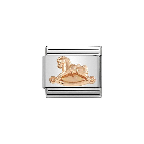 Nomination Rose Gold Classic Rocking Horse Charm Link - 430305/15