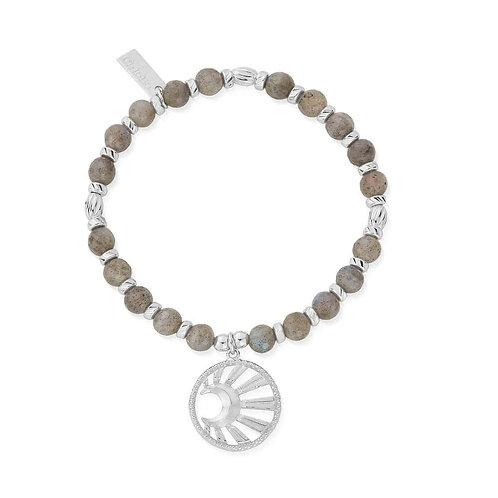 ChloBo Sterling Silver and Labradorite Moonbeam Bracelet - SBL3172