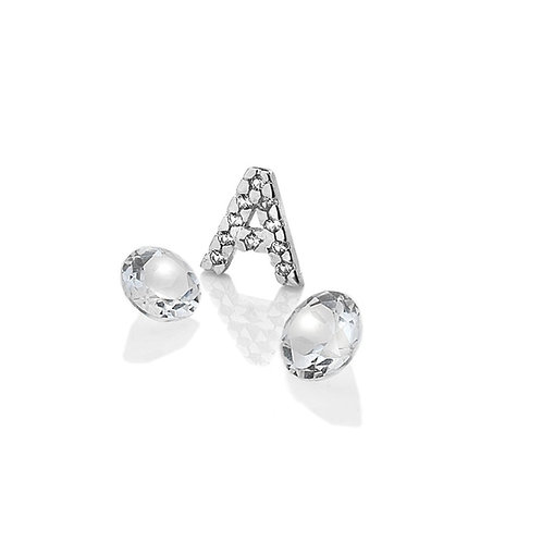 Anais by Hot Diamonds Sterling Silver Letter A Charm - AC069