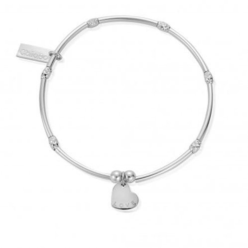 ChloBo Mini Noodle Sparkle Rice Love Heart Bracelet - SBMNSR092
