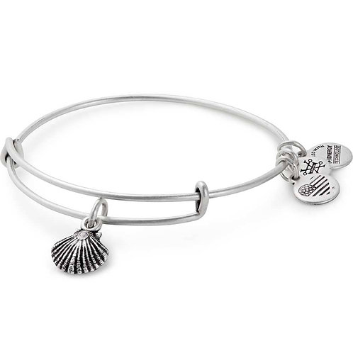 Alex and Ani Rafaelian Silver 'Seashell' Charm Bangle - A17EBSEASRS
