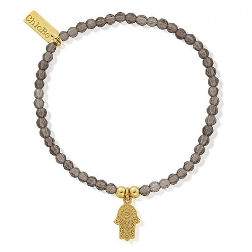 ChloBo Silver Gold Plated Hamsa Hand Bracelet - GBSMO647