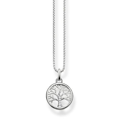 Thomas Sabo Silver CZ Tree of Love Necklace - KE2092-051-14