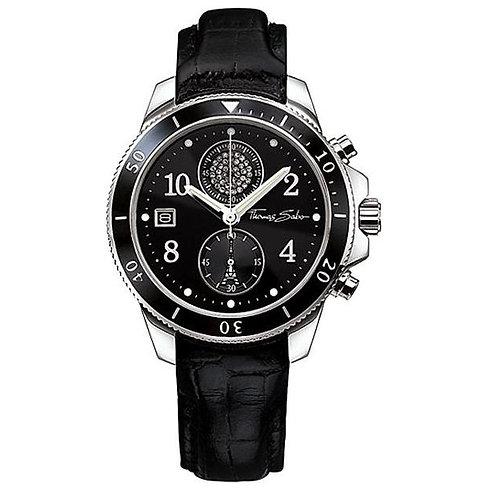 Thomas Sabo Ladies It Black Leather Strap Watch - WA0051