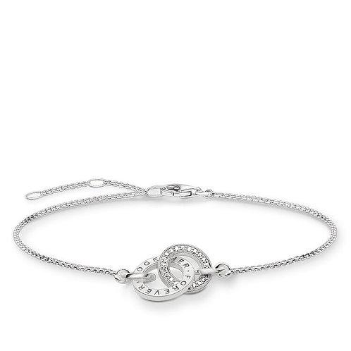 Thomas Sabo Sterling Silver Together Forever Bracelet -A1551-051-14