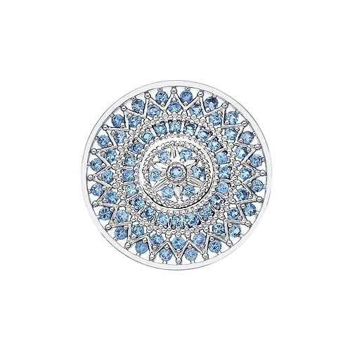 EMOZIONI by HOT DIAMONDS - Courage Azure Light Blue coin - EC383