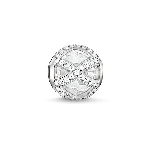 Thomas Sabo Karma Faceted Milky Quartz Maharani Stone Charm -K0140-690-14