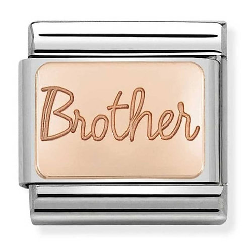 Nomination Rose Gold Brother Plates Charm Link - 430101/37