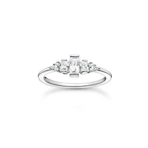 Thomas Sabo Silver CZ Baguette RING - TR2347-051-14