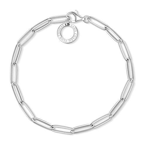 Thomas Sabo Sterling Silver Paperclip Bracelet - X0253-001-21