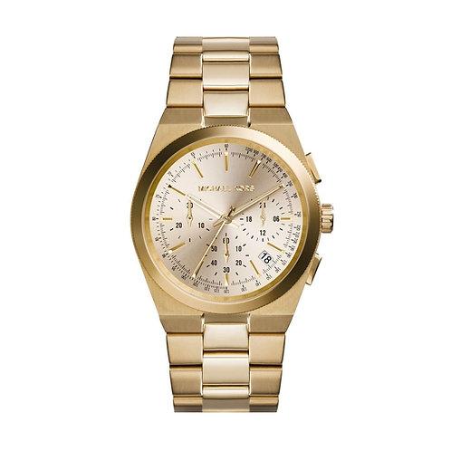 Michael Kors Gold Tone Chronograph Channing Bracelet Strap Watch MK5926