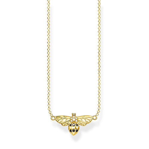 Thomas Sabo Sterling Silver Gold Plated BEE Necklace - KE1866-414-7