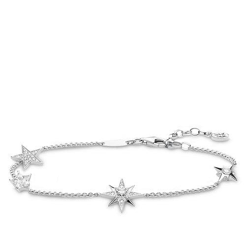 Thomas Sabo Sterling Silver Royalty Star Bracelet - A1916-051-14