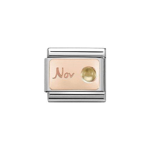 Nomination Rose Gold November Birthstone Charm Link - 430508/11