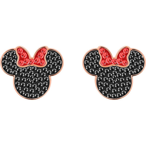 SWAROVSKI Mickey and Minnie Rose Gold Tone Stud Earrings - 5446390