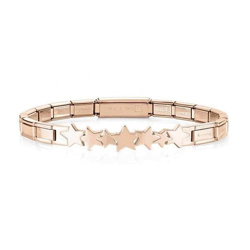 Nomination Trendsetter Star Symbol Rose Gold Bracelet 021111/006