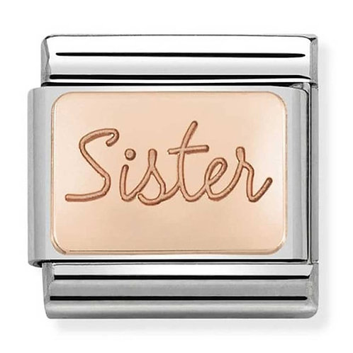 Nomination Rose Gold Sister Plates Charm Link - 430101/38