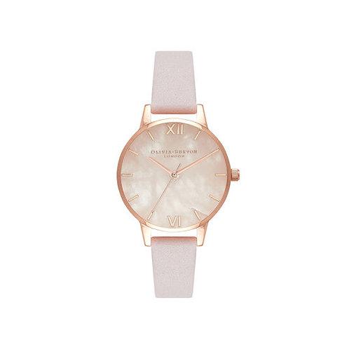 Olivia Burton Semi Precious Blossom Rose Gold Mesh Watch - OB16SP02