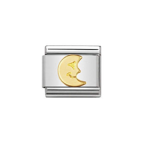 Nomination Gold Moon Charm Link - 030110/15