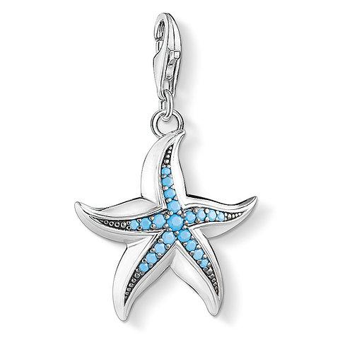 Thomas Sabo Turquoise Silver Starfish Charm - 1527-667-17