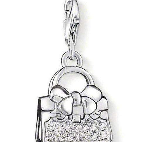 Thomas Sabo Silver CZ Handbag Charm - 0867-051-14