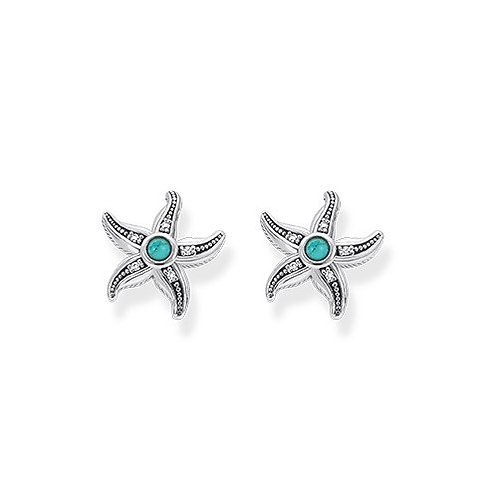 Thomas Sabo Silver Ethnic Starfish Stud Earrings - D_ H000-357-17