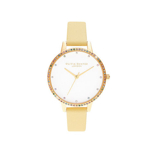 Olivia Burton Rainbow Bezel Sunshine Yellow Strap Watch - OB16RB20