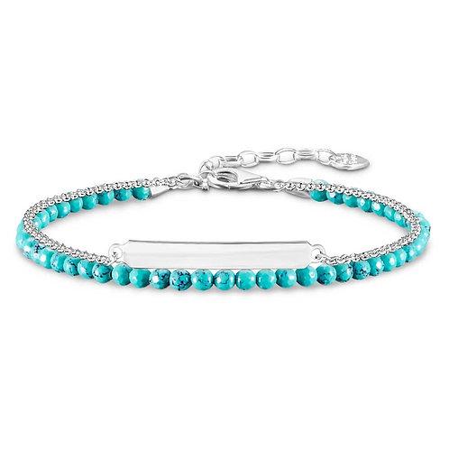 Thomas Sabo Love Bridge Turquoise Double Bracelet - LBA0118-404-17