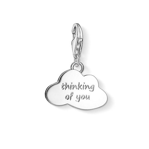 Thomas Sabo Sterling Silver Thinking Of You Charm - 1364-001-12