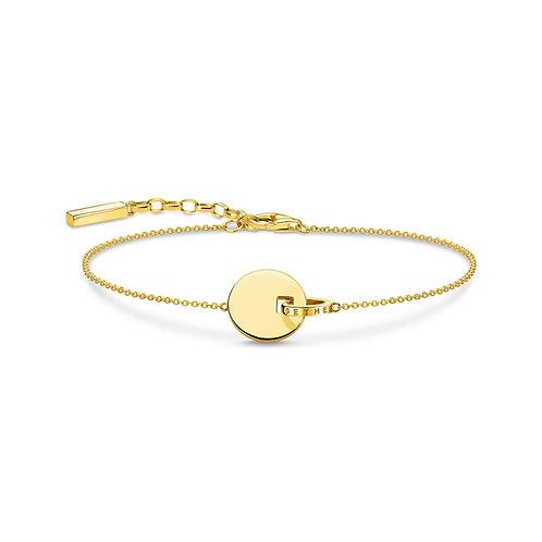 Thomas Sabo Gold Tone Together Forever Bracelet - A1934-413-39-l19v