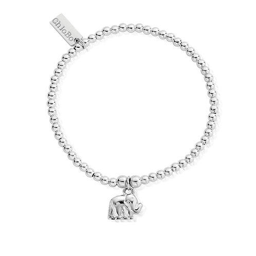 ChloBo Silver Cute Elephant Charm Bracelet - SBCC405