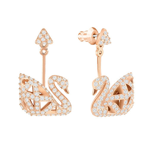 SWAROVSKI Iconic Swan Clear Crystal Earrings - 5358085