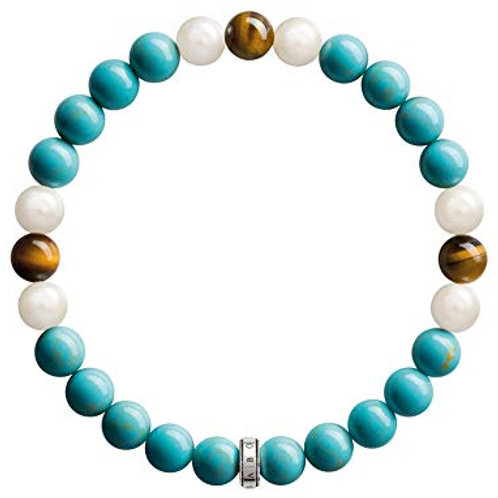 Thomas Sabo Ethnic Rebel at Heart Bead Bracelet - A1559-937-17