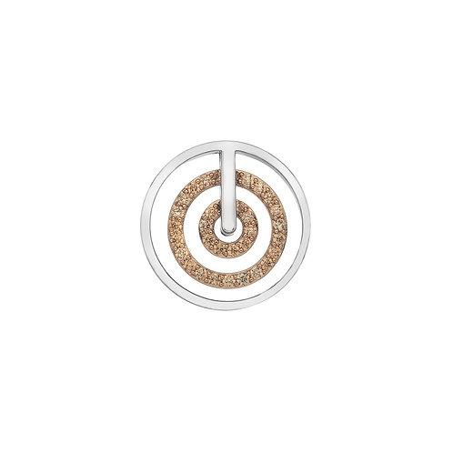Emozioni by Hot Diamonds Entro Rose Gold Champagne CZ Coin - EC493