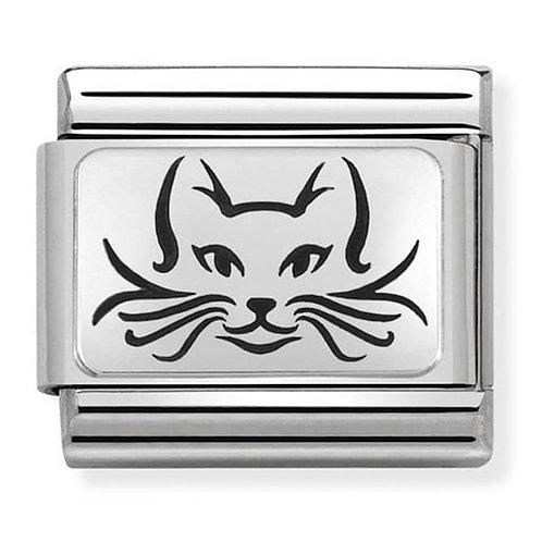 Nomination Silvershine Cat Charm Link - 330109/05