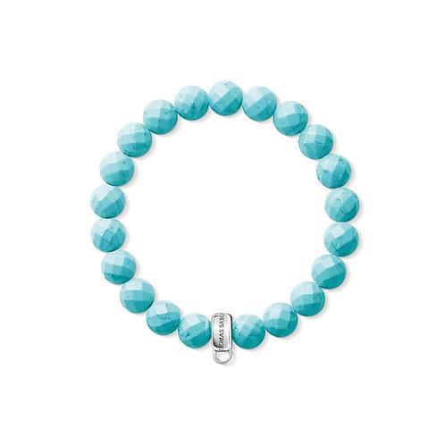 Thomas Sabo Turquoise Bead Charm Bracelet - X0192-404-17-L