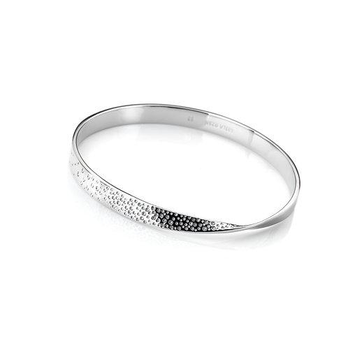 Hot Diamonds Sterling Silver Quest Twist Bangle - DC168