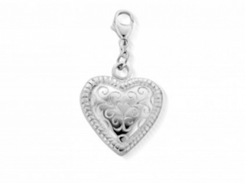 ChloBo Scalloped Heart Necklace Pendant - SP020