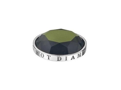 Emozioni by Hot Diamonds Meadow Green CZ Coin - EC007