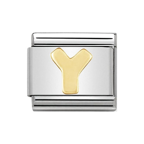 Nomination Gold Initial Y Charm Link -030101/25