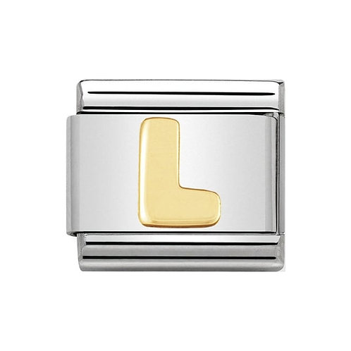 Nomination Gold Initial L Charm Link -030101/12