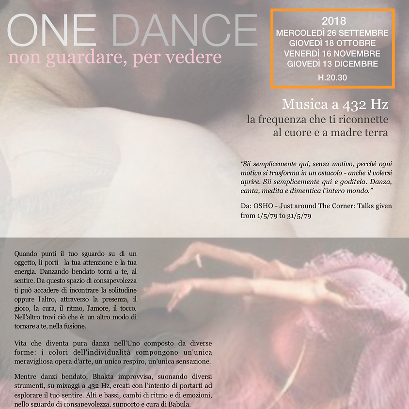 ONE DANCE: Danza Bendata - con Babula&Bhakta
