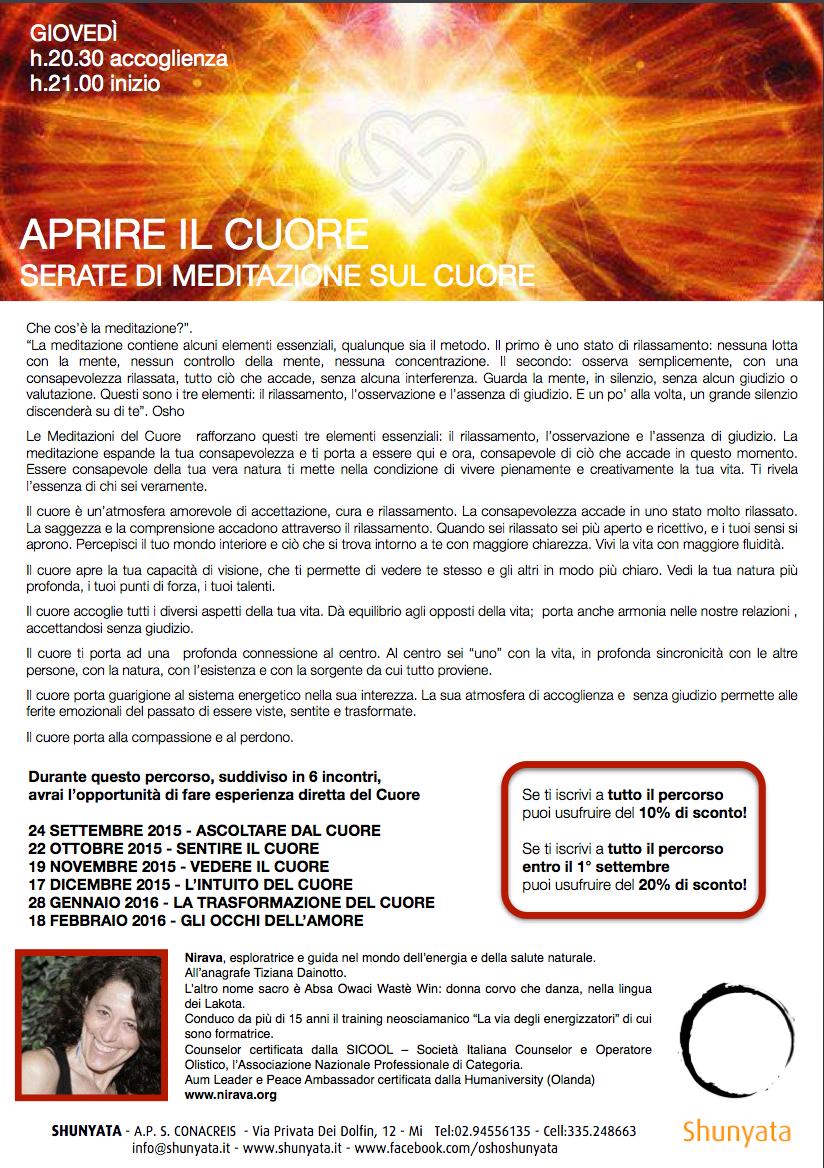 Incontro d'Amore e Verità a Milano a Shunyata Osho Info Center