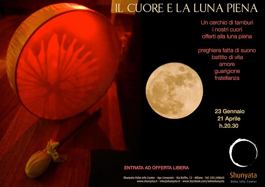 Luna Piena e Cerchio di Tamburi a Milano
