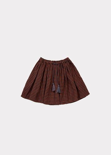 Audley Skirt, Orange Check - Caramel