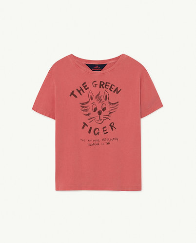 Rooster Kids T-Shirt, Red Tiger - TAO
