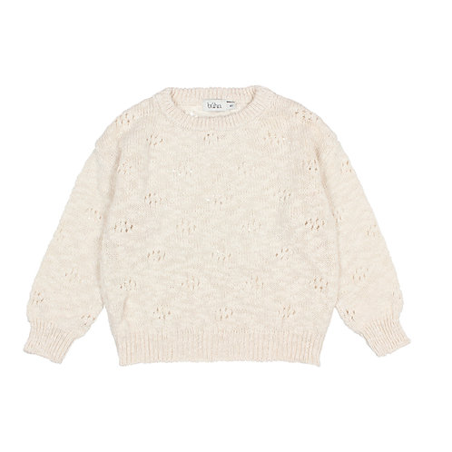 Giselle Girl Knit Jumper, Ecru - Búho