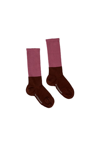 Bicolor Socks, Brown Pink- The Campamento