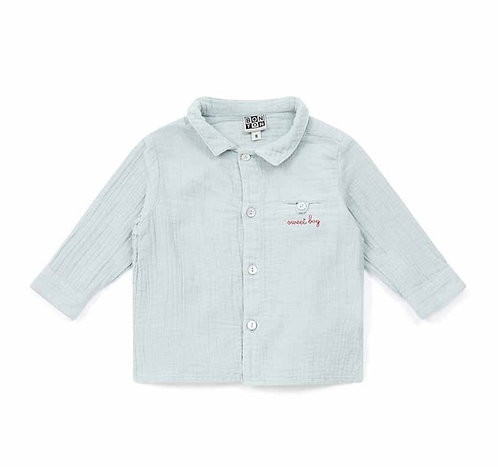 Journal Baby Shirt, Blue Glacier - BONTON