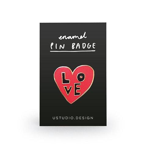 Pin Badge – Love Heart